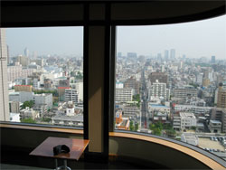 The view from the 21st floor of Tokyo East 21