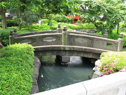 Ancient bridge within the Sensoji Temple grounds