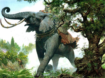 Ted Nasmith's picture of Tolkien's ''Oliphant''